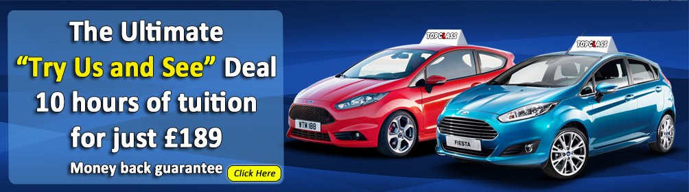 Book your first 10 driving lessons for only £189