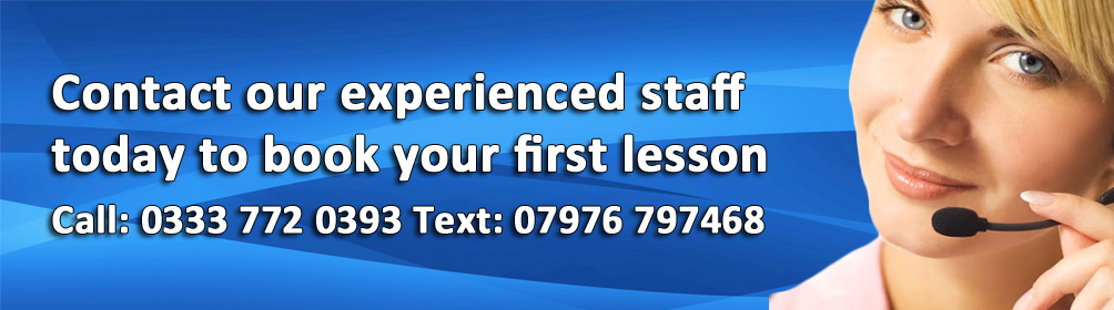 Contact our experienced staff today to book your first lesson